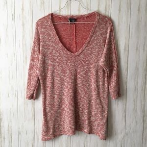 urban outfitters Pink Soft V Neck Lounge Top